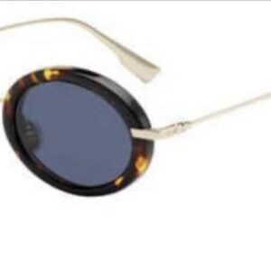 Oval tiger thick fram sunglasses